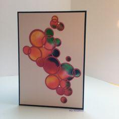 """Karte mit Kreisen, Thinlits """"Bright Bubbles"""" von Ellison alle anderen Materialien Stampin' Up!"""