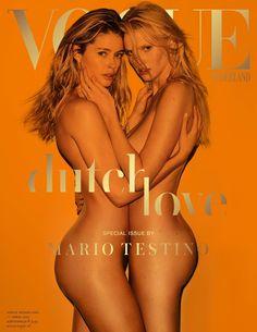 Publication: Vogue Netherlands April 2017 Model: Doutzen Kroes, Lara Stone Photographer: Mario Testino Fashion Editor: George Cortina Hair: Christiaan Make Up: Val Garland