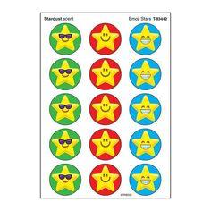 Stinky Sticker Lg Round Emoji Stars Scratch N Sniff Reward Stickers, Star Stickers, Planner Stickers, Star Emoji, Emoji Characters, Monkey And Banana, Free Activities, Permanent Marker, Scrapbook Albums