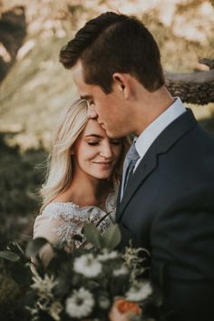 Sweet candid wedding portrait moment captured by Autumn Nicole Photography