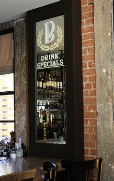 boulevardier restaurant Dallas mirror