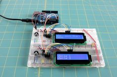 16x2 PCF8574 I2C 2 Displays Breadboard