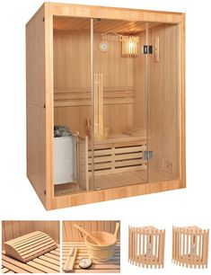 New HOME DELUXE Elementsauna Skyline L cm mm KW Ofen int Strg