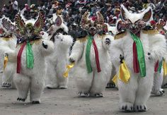 The three-day Carnival of Oruro in Bolivia is marked by folk dances, parades and more cultural and religious activities. Oruro is a mining and commercial city of more than 200,000 people, located some 124m (200km) south of the country's capital of La Paz. This is a 2000-year-old religious festival. Photos: REUTERS/David Mercado