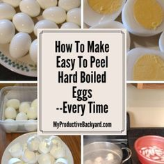 How To Make Easy To Peel Hard Boiled Eggs; just water, eggs and ice How to make easy to peel hard boiled eggs every time with no special equipment. Just a saucepan, eggs, water and ice.Works every time! Baked Hard Boiled Eggs, Peeling Boiled Eggs, Cooking Hard Boiled Eggs, Hard Boiling Eggs, Hatd Boiled Eggs, Perfect Hard Boiled Eggs, Perfect Eggs, Hard Boil An Egg, Perfect Deviled Eggs