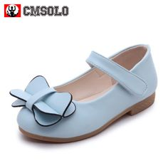 Bumud Little Girl s Bow Mary Jane Dress Shoe Velcro Walker Ballerina Flat 4303be5db7d6