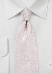 Floral Paisley Tie in Soft Blush