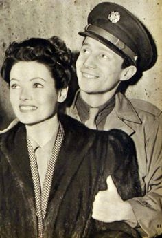 Gene Tierney and husband Oleg Cassini