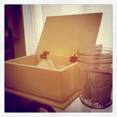 A prayer box.put your prayer requests in them, and when they've been answered, move them into the jar. Prayer Jar, Prayer Room, Glass Jars, Mason Jars, Prayer For Studying, Prayer For Church, Prayer Corner, Answered Prayers, Family Christmas Gifts