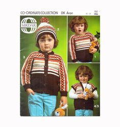 Genuine Vintage 1970s Sirdar 150  Babies and Toddlers Knitting Pattern Booklet Co-ordinate Collection Hats Cardigans etc