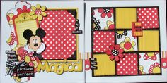 Disney Magic 4 Pages   Join me for these 4 fun and fabulous pages celebrating the magic of  Disney.  You will be completing 2 2-Page layouts...