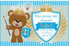 Lollita Cereja: Covite personalizado chá de bebê ursinho príncipe