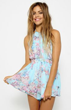 Forever Young Playsuit - Blue @Peppermayo Boutique www.peppermayo.com #fashion #peppermayo