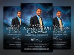 Starlight Pastor Anniversary Vol. 4 Templates Starlight Pastor Anniversary Flyer Template Vol 4 is great for church pastor appreciation or anniver by