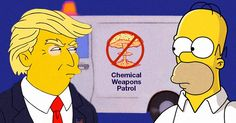 The White House is essentially run by a violent mutation of a Simpsons character.