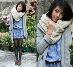 FLORAL WINTER (by Zoe  S) http://lookbook.nu/look/1515151-FLORAL-WINTER