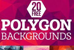 Pack gratuito de 20 backgrounds geométricos