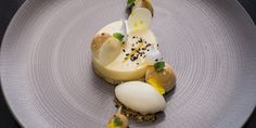 Graham Hornigold's lemon tart recipe is paired with a wonderfully refreshing lemon ice cream, Italian and French meringues for contrasting texture and a hint of sesame.