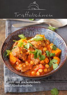 Multikulti-Eintopf: Ein mildes Tikka Masala Curry. Lamm mit Kichererbsen und Süsskartoffeln