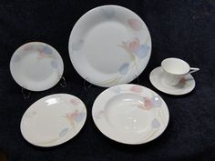 END OF THE MONTH CLEARANCE SALE! Mikasa Bone China Swiss Garden CR009 6 Pc Place Setting - NICE! #Mikasa