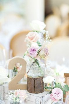Wooden Crate Decor Centrepiece Table Flowers Bottles Roses Gold Sparkle Pink Glamour Wedding http://emilyhannah.com/ Take a look at http://www.pinterest.com/laurenweds/wedding-decor for all your decor inspo