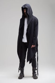 Avant-garde style inspiration for today: Assassin Creed Hoodie \ Jedi Black Hoodie Long Cardigan Black Cyberpunk Hoodie Punk Gift for Man Unique Gift