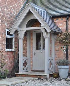 Best front door porch canopy house ideas – My World Cottage Front Doors, Front Door Porch, Front Door Entrance, Front Entrances, Cottage Porch, Garage Entry, Front Door Canopy, Front Porches, Door Entry