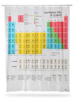 Cortina de chuveiro Tabela Periódica do Sheldon