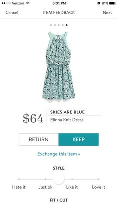 This came in my 3rd fix and I truly loved the style, color and fabric! It is adorable!!!