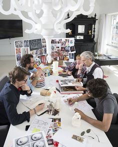 Let's look inside #AlessiCircus collection's creative process: everything started with an accurate study of circus magical world at Wanders studio. #Alessi #AlessiDesign #MarcelWanders