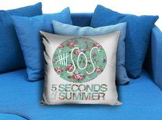 5SOS 5 Seconds of Summer Logo Floral Pillow case #pillow #case #pillowcase #custompillow #custom