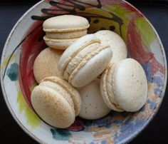 Malted milk macarons. All naturally coloured and made with local freerange eggs