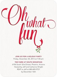 cute saying for xmas party invite