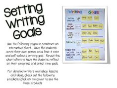 WRITERS WORKSHOP: GOAL SETTING FREE DOWNLOAD