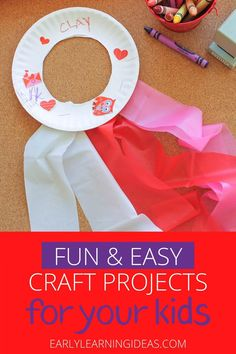 Here are the most popular craft projects to do with kids from the Early Learning Ideas website. Check out this visual library to find some inspiration for fun and easy projects to do at home with your kids. Kids will love these cool projects that you can Fun Easy Crafts, Bug Crafts, Fun Crafts For Kids, Crafts To Do, Preschool Activities At Home, Spring Activities, Color Activities, Craft Projects For Kids, Easy Projects