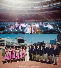 Twins baseball wedding