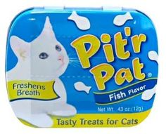 Chomp Pit`r Pat Fish Flavor Tasty Treats for Cats