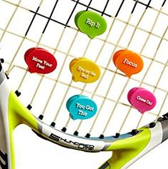 Inspirational vibration dampeners for your racquet, these will be great as prizes for our summer tennis camp. #tennis #gifts