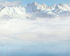 Beautiful mountain paintings by Nino Malfatti (1940 - ).