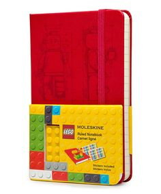 Look at this Red Lego Ruled Pocket Notebook on #zulily today!
