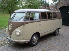 "Early ""barndoor"" 1952 VW bus."