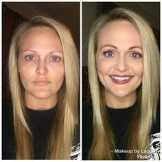LimeLight before and after. Simple and easy everyday look.