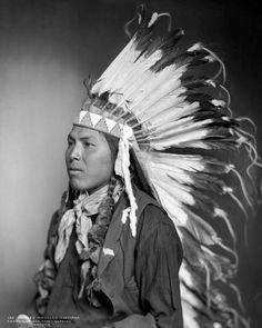 Charley Washakie, a Shoshone man. 1899. Photo by Rose & Hopkins.