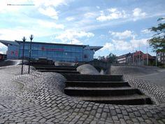 At Sparkasse Arena Baltic Sea, Sidewalk, Adventure, Mansions, House Styles, Kiel, Savings Bank, Mansion Houses, Villas