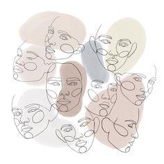 Ideas Line Art People Illustration Artists Illustration Ligne, Illustration Vector, People Illustration, Portrait Illustration, Illustration Artists, Illustrations, Line Art, Art Sketches, Art Drawings
