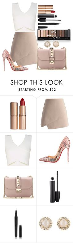 """Untitled #1371"" by fabianarveloc on Polyvore featuring Charlotte Tilbury, Chicwish, BCBGMAXAZRIA, Christian Louboutin, Valentino, MAC Cosmetics, Marc Jacobs, Kate Spade, women's clothing and women's fashion"
