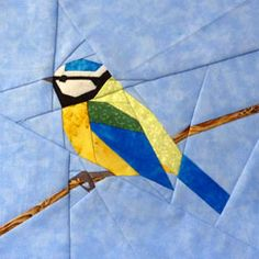 Claudias Quilts ~ Big Quilt of Nature Quilt Square Patterns, Paper Pieced Quilt Patterns, Square Quilt, Vogel Quilt, Paper Peicing Patterns, Bird Quilt Blocks, Christmas Quilting Projects, Landscape Art Quilts, Bird Applique