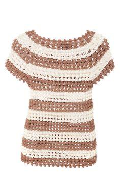 Popcorn Stitch Shirt by HELEN RöDEL for Preorder on Moda Operandi