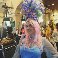 Cafe du Monde! #Easter #headdress #headpiece #neworleans #frenchquarter by c_to_the_line