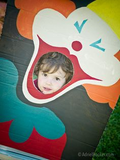 Circus Birthday Party - vintage clown-inspired bean bag toss game (or photo prop)